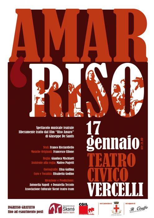 Amar Riso returns to the Civic Theater of Vercelli