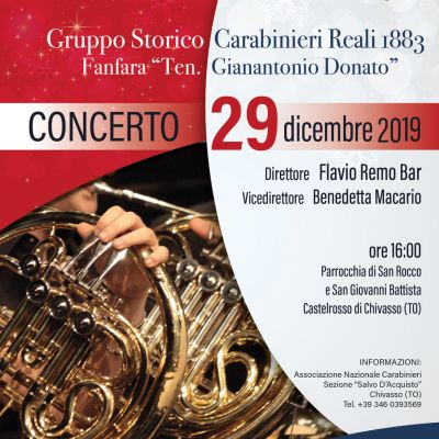 "New Year's Concert with the Carabinieri Fanfare ""Ten. Gianantonio Donato"""
