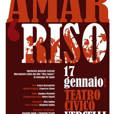 Amar Riso at the Civic Theater of Vercelli