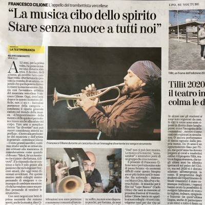 Music and Covid, interview for LA STAMPA newspaper