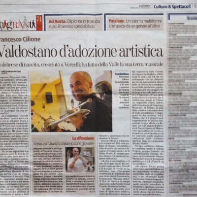 "Interview by G. Lo Presti - ""La Stampa"" - Immigranti - May 29. 2013"