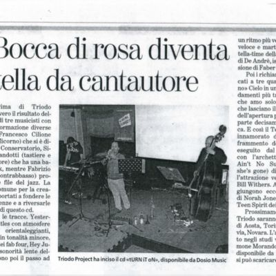 "Review of ""tURN iT oN"" by G. Barberis - ""La Stampa"" March 16, 2012"