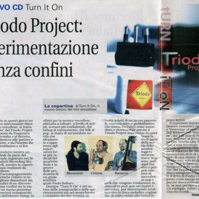 "Review of ""tURN iT oN"" by G. Michelone ""LA SESIA"" April 13, 2012"
