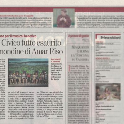 """La Stampa"" - April 4, 2017 - Amar Riso is sold out"
