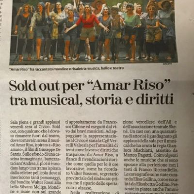 """LA STAMPA"" - 19 JAN 2020 - Sold Out Civic Theater"